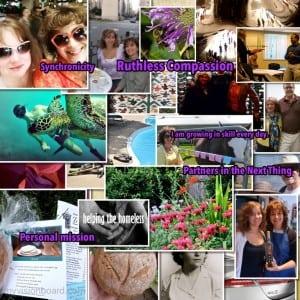 Deb's first Digital Vision Board