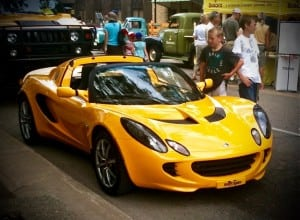 Yellow lotus sports car edited